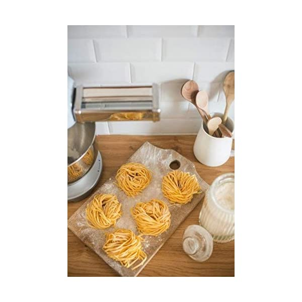 Smeg SMPC01 Pasta Roller & Cutter Set, Silver 5