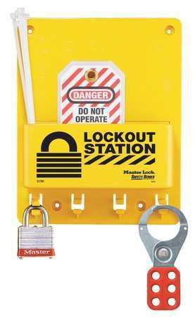 Master Lock Compact Lockout Center, Includes 1 Steel Padlock