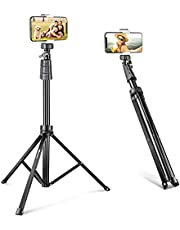 UBeesize 67'' Phone Tripod Stand & Selfie Stick Tripod, All in One Professional Tripod, Cellphone Tripod with Wireless Remote and Phone Holder, Compatible with All Phones/Cameras,Load capacity: 1.5 Kg