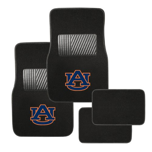 Pilot Alumni Group FM-909 Universal Fit Four Piece Floor Mat Set (Collegiate Auburn - Floor Mat Tiger