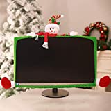 Eshylala Christmas Computer Monitor Cover Snowman Elastic Xmas Computer Monitor Cover Elastic Laptop Computer Decorations Cover for Xmas Home Office Decor