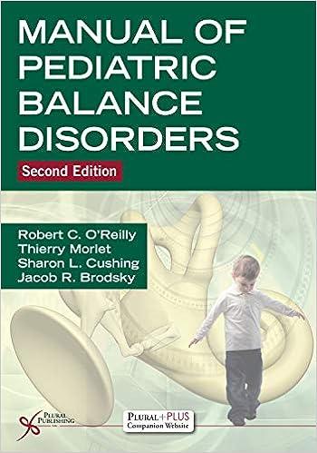 Manual of Pediatric Balance Disorders Second Edition