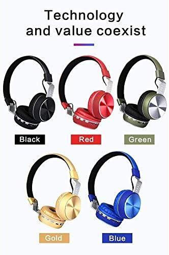 TYGYDLQ ワイヤレスヘッドフォンノイズリダクション、折りたたみ式のBluetoothヘッドセット、ヘッドセットスポーツゲーム、快適な耳 - PC用ヘッドセットのマイクとボリュームコントロール (Color : B)