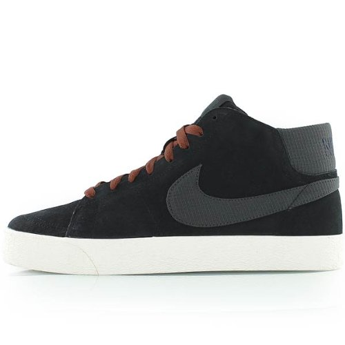 (Nike SB Blazer Mid LR Men's Skateboarding Shoes, Black/Anthracite/Field Brown, 10.5 M US)