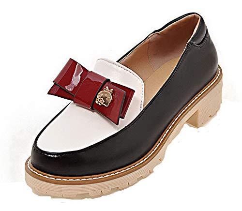 GMBDB011576 à Légeres Femme Talon Chaussures Bas AgooLar Noir d'orteil Fermeture gHwq8CT