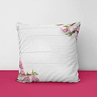 41isdpD9q5L. SS320 Corner Flower Square Design Printed Cushion Cover