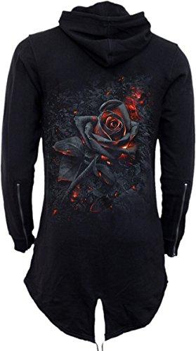Donna Rose Black Spiral Con Burnt Cerniera Felpa Nero f1aaOZwqc