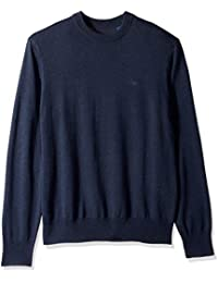 Men's Cotton Crewneck Long Sleeve Sweater