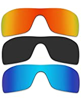 3 Pair Replacement Polarized Lenses for Oakley Batwolf Sunglasses Pack P14