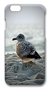 iphone 6 plus 5.5inch Case and Cover Seagull in Sand Animal PC case Cover for iphone 6 plus 5.5inch