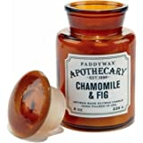 Paddywax–Ambre–Collection apothicaire Luxe Fine Bougie parfumée en cire de soja–Artisan–Coulée à–60Heures–Recyclable Ambre Bouteille apothicaire–Camomille & Figue