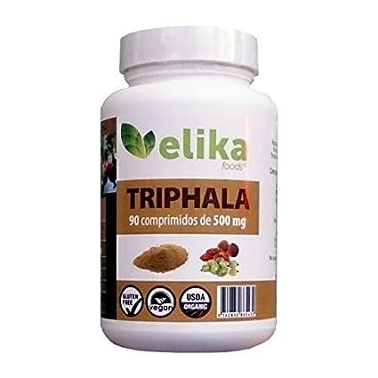 Triphala del Himalaya, India, Ayurveda orgánico 90 comprimidos 500 mg/ limpieza de órganos