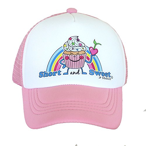 Birthday Cupcake on Kids Trucker Hat. This Kids Base Ball Hat is Also Available in Baby & Toddler Sizes (Light Pink, Kiddo (2-6 yrs))