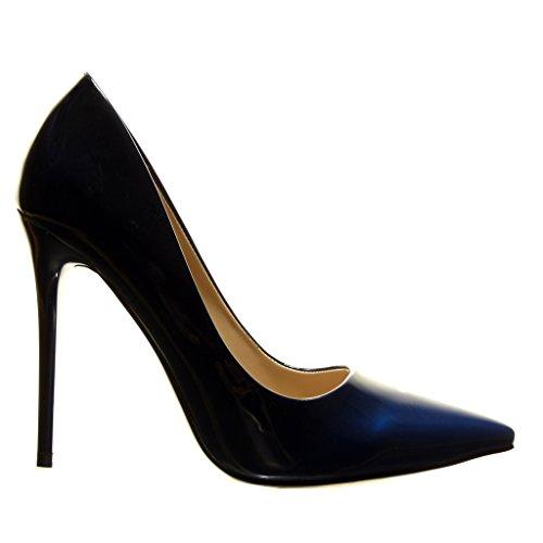 Stiletto Moda Decollete di Stiletto Donna Decollete Tacco 10 Gradiente cm Blu Alto Colore con Angkorly Tacco Scarpe X5nqSS