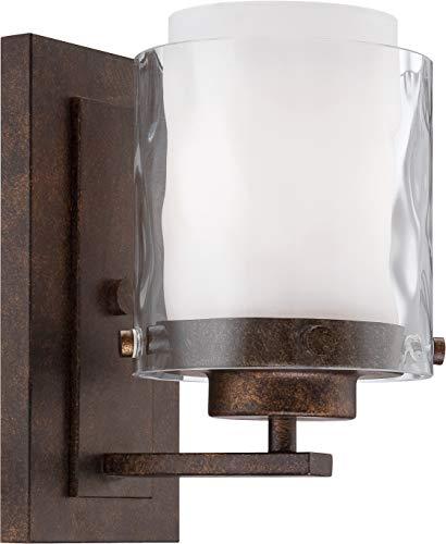 Craftmade 35401-PR Kenswick Alabaster Wall Sconce Lighting, 1-Light, 60 Watts, Peruvian Bronze (5