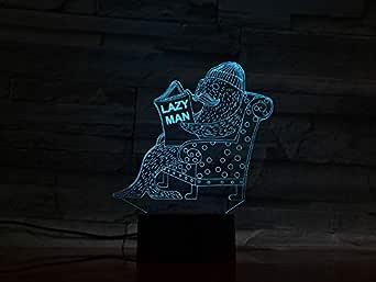3DAnimal SealLampwith 7 Color Changing Decorative Lamp Baby Kids Kit Lazy Men Night Light Seal Led Night Light