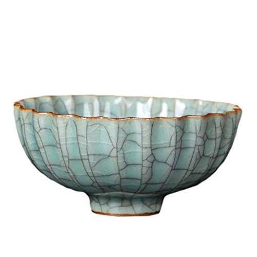 (Longquan Celadon Bowl, Gooi Kiln Vintage Blossom Bowl And Kwai Kou Bowl, Ornamental Creative Bowl, Ceramic Individual Bowl)