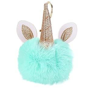 Amazon.com: Gbell Pom - Llavero con diseño de unicornio para ...