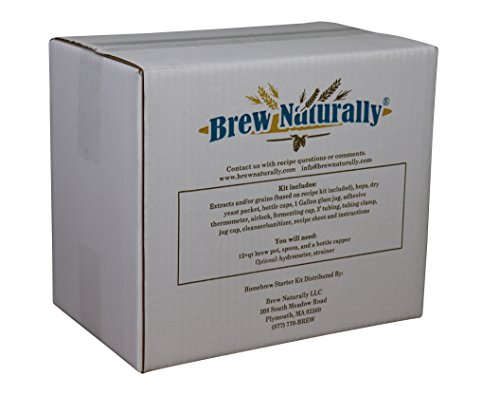 Brew Naturally Blonde Ale Homebrew Starter Kit | The Ultimate 1-Gallon DIY Home Brewing Pack | Set Includes Equipment & Ingredients with Easy-To-Follow Recipe for Making Your Own Craft Beer