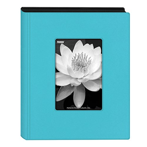 Pioneer Photo Albums KZ-46 Aqua Blue Mini Frame Cover Photo Album, 4 x 6