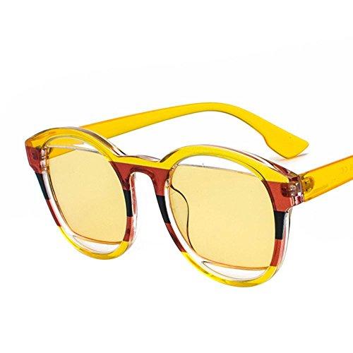 f0b6d1b44a62c Aoligei Lunettes de soleil femmes ronde lunettes de soleil visage autour  cadre lunettes retro hommes et
