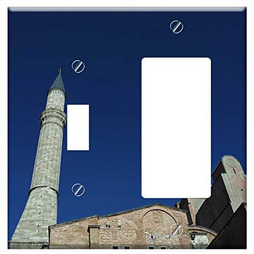 Sophia Cami - 1-Toggle 1-Rocker/GFCI Combination Wall Plate Cover - Hagia Sophia Cami Church Temple Aesthetics Ph