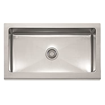 Franke MHX710-36 Manor House 36 x 20 7/8 x 9 1/8 16 Gauge Apron Front Single Bowl Stainless Steel Kitchen Sink