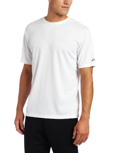ASICS Men's Ready-Set Short Sleeve Tee, White, X-Large