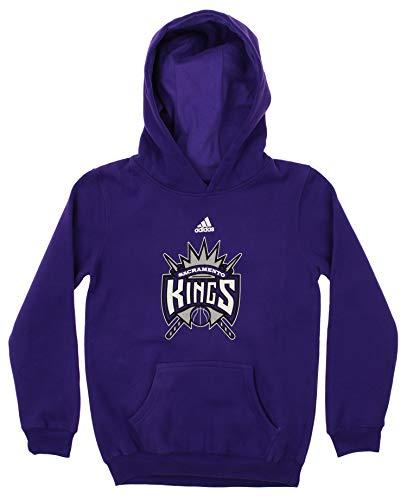 (adidas NBA Youth (8-20) Sacramento Kings Primary Logo Fleece Hoodie, Purple Large (14-16))