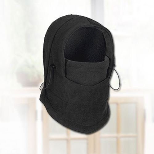 Mens Stock Half Helmet (Mask cap New Winter Motorcycle Thermal Fleece Ski Balaclava Full Face Neck Mask Cap Hat ski mask (Black))