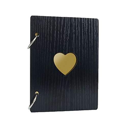 - Retro Wooden Creative Album Love Series Album Photo Albums for Lover Baby Wedding,Black