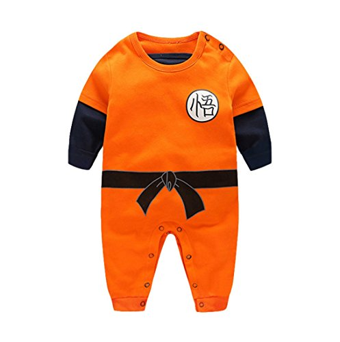 (Hannah fit Infant and Toddler Bodysuit Footies, Goku Modeling (XL(12-24)