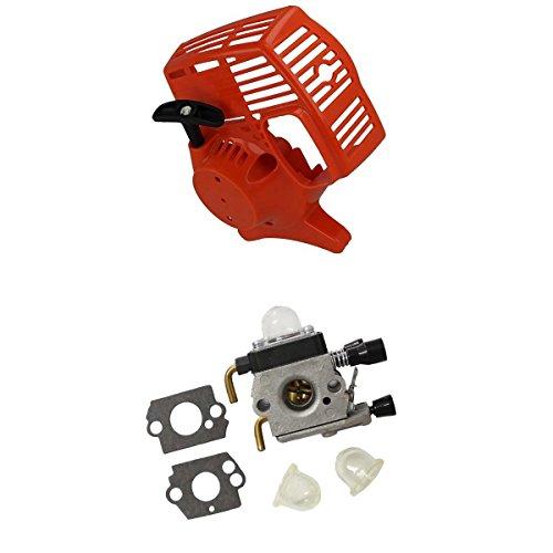 MagiDeal Kit de 1x Arrancador de Retroceso 1x Carburador para STIHL FS38 FS45 FS46 FS55 FC55 HL45