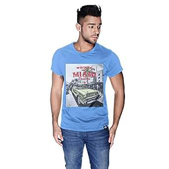 Creo Miami Car Beach T-Shirt For Men - S, Blue