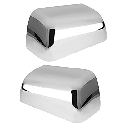 Top Half Mirror Cover Fits 2008-2016 Ford F250 F350 F450 Super Duty Triple Chrome Plated (One Pair): Automotive