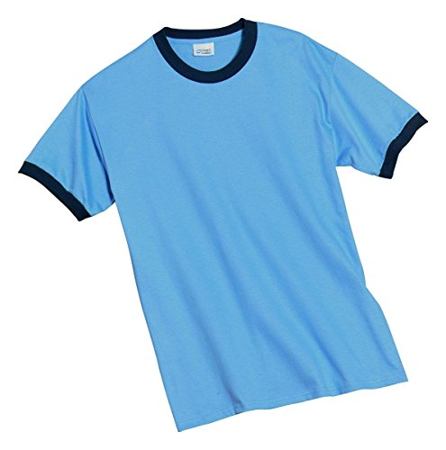 Port & Company Ringer T-Shirt>L Carolina Blue/Navy (Wholesale Ringer T-shirts)