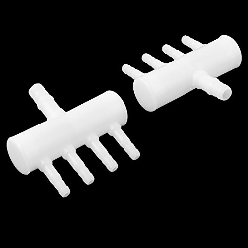 Sourcingmap® Della Tubazione A Diviso Vie Bianco Di Aria In Plastica 4 Acquario Valvola 2pz Pompa Flusso Controllo gwvzSrqBgx