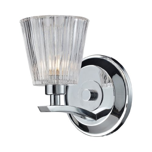 Elk Lighting 31162/1 Calais One Light Bath Bar, Polished Chrome