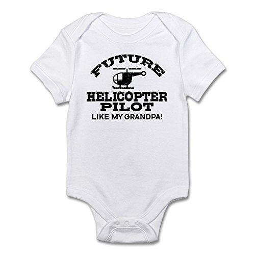 CafePress Future Helicopter Pilot Like My Grandpa Infant Bod Cute Infant Bodysuit Baby Romper (Onesie Helicopter)