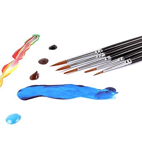 - 5Pcs/Set Fine Detail Brush Hand-Painted Hook Line Pen Drawing Pen Art Pen Miniatures Brush Pen Refill Art Supplies