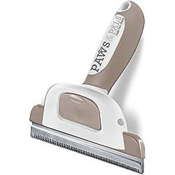 Paws & Pals Dog Hair Brush Grooming Comb for Shedding Rake Trimming Tool - Brushes Pet Cat Hair Fur Removal - Deshedding Supplies