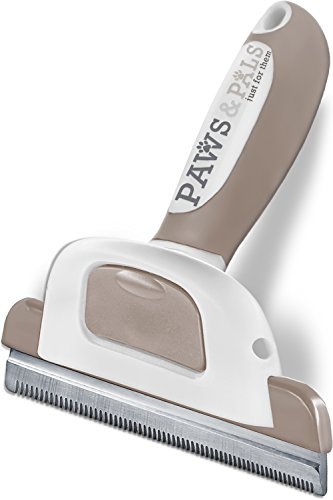 Paws & Pals Dog Hair Brush Grooming Comb for Shedding Rake Trimming Tool - Brushes Pet Cat Hair Fur Removal - Deshedding - Pal Brush