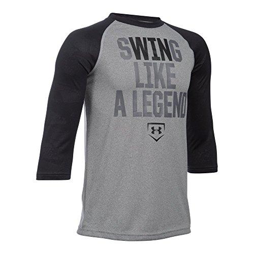 Under Armour Boys' Swing Like A Legend T-Shirt, True Gray Heather/Graphite, Youth Medium