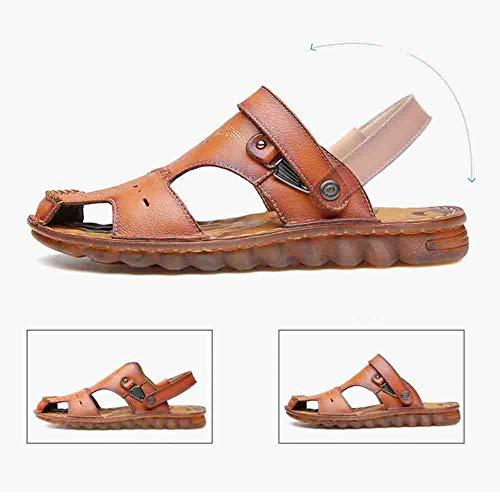E Uomo Camminare Traspiranti Camminare Da Il Assorbe In Sudore Brown Sandal In All'aperto Calzature Chiusi Estate Spiaggia Da Similpelle Pantofola tZaw6q1