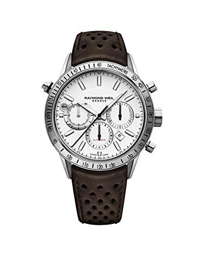 Raymond Weil White Wrist Watch (Raymond Weil Freelancer White Dial Mens Chronograph Watch 7740-STC-30001)