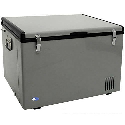 """Whynter FM-65G 65 Quart Portable Refrigerator, AC 110V/ DC 12V True Freezer for Car, Home, Camping, RV-8°F to 50°F, One Size, Gray"""