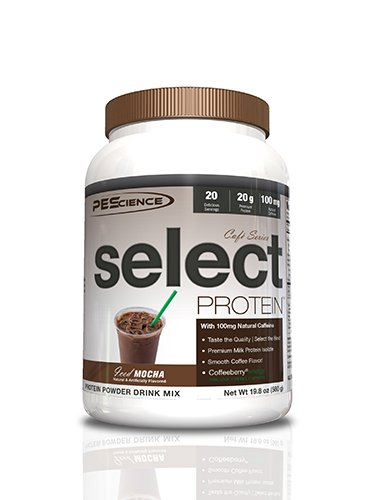 PEScience Select Cafe Premium Whey and Casein Protein, Iced Mocha, 19.8 Ounce