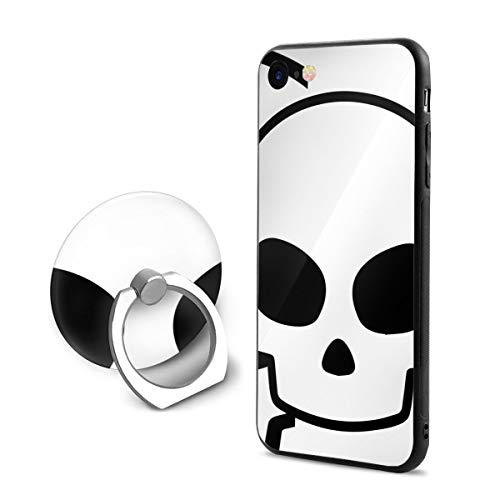 SJDEI5W Skull Crossbones iPhone 7/8 Case + Finger Ring Stand 360 Rotation Cell Phone Ring Stand Holder Grip Kickstand Universal Mobile Phone - Crossbones Stencil