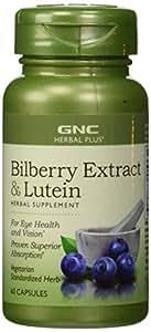 GNC Herbal Plus® Standardized Bilberry Plus Lutein 60 Vegetarian Capsule