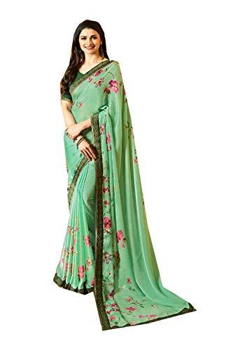 Sarees Sari Partywear Green Facioun Designer Light 7 Ethnic Da Traditional Women Indian ESCxwHq
